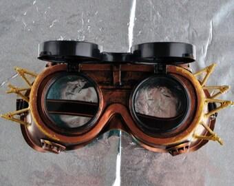 Steampunk Goggles Glasses  Cyber  post Apocalypse mad professor
