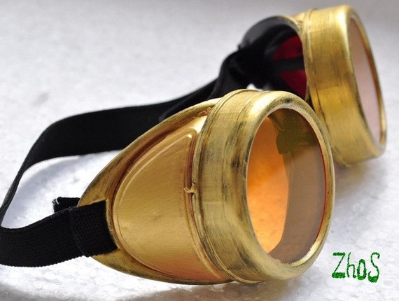 Steampunk Cyber Goggles Glasses Cosplay Anime Larp Rave 300or
