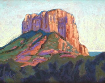 "Pastel Landscape ""Bell"" Giclee Print"