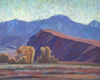 "Pastel Landscape ""Bluff and Absarokas"" Limited Print"
