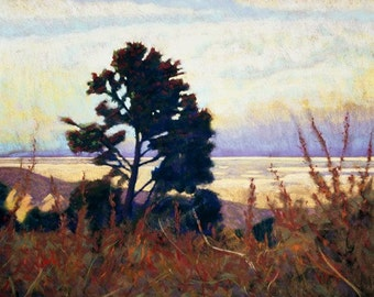 """Pastel Landscape """"One Over the Mojave"""" Limited Print"""