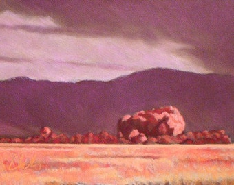 "Pastel Landscape ""Red Earth"" Giclee Print"