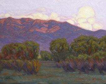 "Oil Landscape ""East Gallatin Evening"" Limited Print"