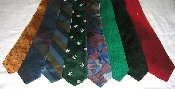 8 Vintage Neckties Neck Tie Lot Craft Projects Or Vintage Wear Lot 13
