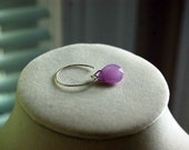 Lilac and Bright Silver Earrings