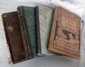 Antique SCHOOL BOOKS 1800's Children's Readers Illustrated Lot of 4