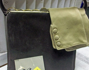 SALE Vintage Chocolate Brown SUEDE Handbag Gorgeous KORETOLOPE