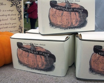 PUMPKIN SOAP Handcrafted Great Harvest Scent