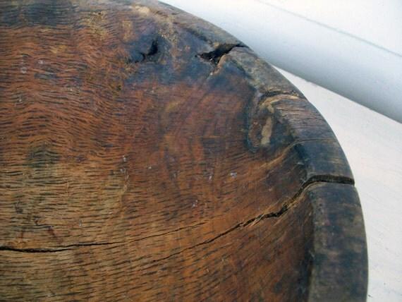 Antique Primitive Burlwood Bowl 19th Century
