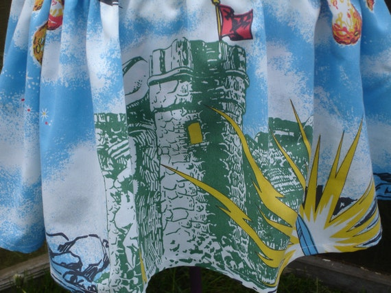 Castle Grayskull and Friends of He-Man upcycled skirt