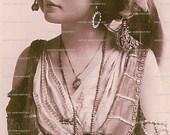 Vintage Gypsy Photo Postcard 4 x 6