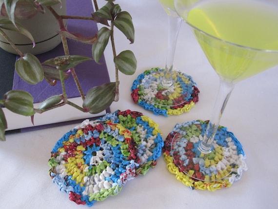 Upcycled Plarn Coasters - Set of 4