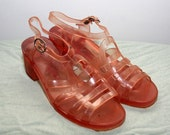 vintage jelly sling back sandals - PERFECTLY BLUSHED