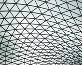 The Curve of the British Museum, London. 10 x 12 Mounted Print.