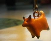 Tiny Fox - Polymer phone charm