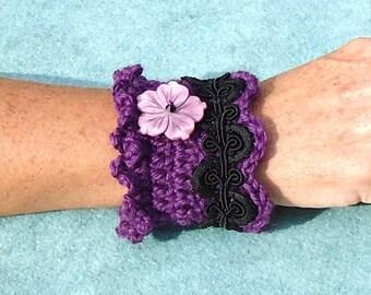 fiber Art Fiber Jewelry CUFF BRACELET - Simple But Elegant