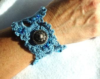 Fiber Cuff Bracelet, Fiber Jewelry