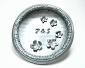 Custom Wedding Ring Bowl, Ring Dish, Ring Bearer, Cherry  Blossoms, Victorian, Silver