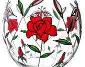 Painted Wine Glasses, Custom Glasses, Stargazer Lilies, Roses, Valentines Day, Set of 2