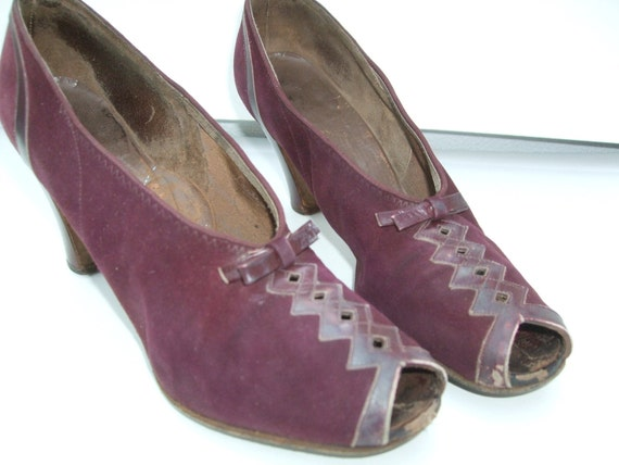 Shoes 1939 Vintage Wedding Shoes Worn 1939 By TimelessTreasuresVCB