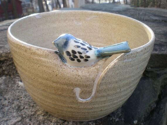 Little Bird Yarn Bowl Custom Bird Yarn Bowl