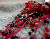 SALE--Beneath the Evening Skies Necklace-RUBY