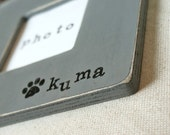 Personalized Pet Picture Frame Gift. Pet Lover, Pet Memorial, Loss of Pet Gift. Handstamped, Pick Your Color, Distressed.