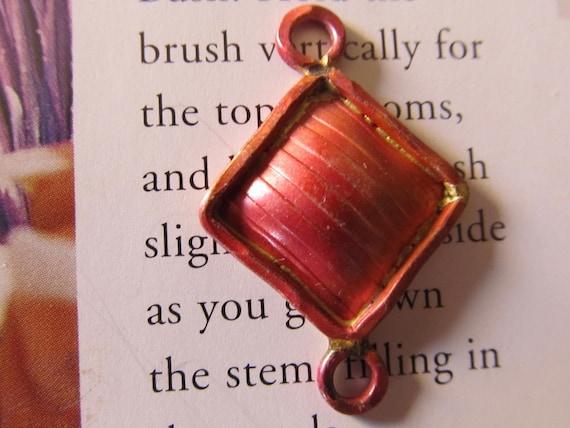 Artisan Copper Connector Bead, Diamond shape,