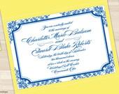 Wedding Invitation Set, Customizable & Hand Assembled - Vintage Florals - SAMPLE
