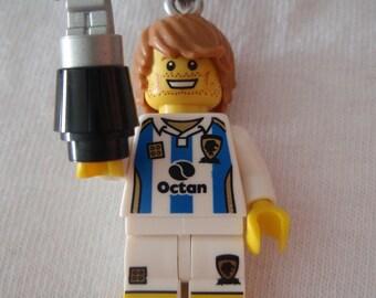 Custom Soccer / Football Player Necklace Made With Genuine LEGO® Bricks