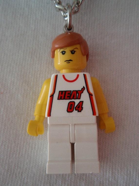 Custom LEGO NBA Basketball Team Miami Heat Necklace
