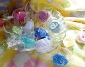 Baby Washcloth Candy...Bundle of 5...Baby Shower or Party Favors...Spa Party.....Toddler Birthday