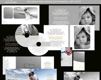 Photography Marketing Templates Photoshop includes LOGO and Facebook timeline Liliagrace
