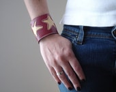 STARS II Leather Cuff