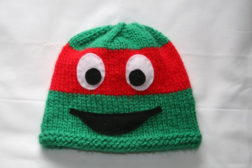 Items similar to Knit Ninja Turtle Hat - any size on Etsy