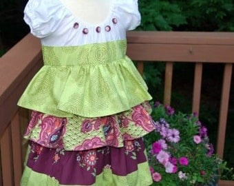 Sample Sale Amy Butler Love Ruffle Dress Only One Available Size 4T/4