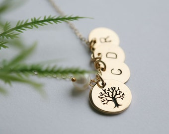 Family Tree charm Necklace,Mother in law gift,Mothers day gift,mothers necklace,gift for mom,grandmother gift,tree of life,family necklace