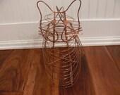 Copper Kitty Egg Basket