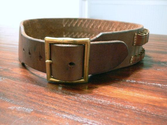 leather rifle cartridge belt by meresmarketplace