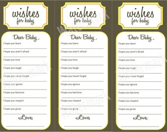 Wishes for Baby - Baby Shower Activity (Printable)