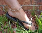 Ankle Bracelet Silver & Swarovski Crystal Bridal Jewelry