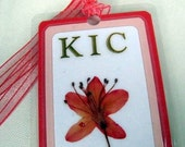 Personalized Bookmark With Pressed Flowers Custom Your Choice of Colors and Flowers 3 Flowers