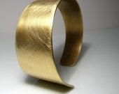 Asymmetrical Cuff. Bracelet. Brass. MADE TO ORDER.