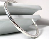 Thick Ripple Cuff. Bracelet. Sterling Silver. MADE TO ORDER.