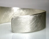Asymmetrical Cuff. Bracelet. Sterling Silver. MADE TO ORDER.