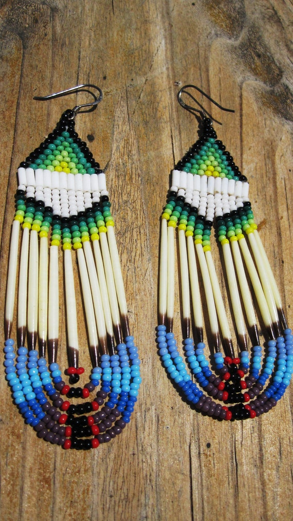 Native American Quill Earrings