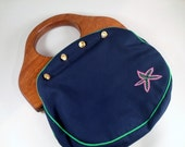 vintage handbag - Bermuda Bag - JG Hook - with 2 button on covers - Jeanne Bouchever