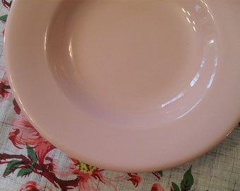Vintage Restaurant Ware Soup Bowls PINK Wellsville China