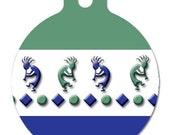 Kokopelli --- 2 sided, aluminum, personalized pet ID tag