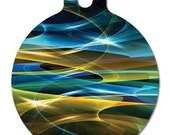 Mystic Waves --- Pet Tags, 2 sided, personalized